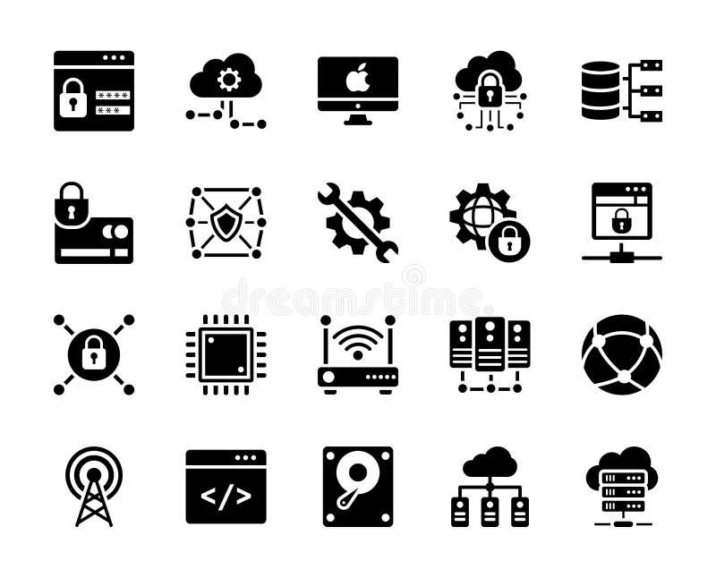 Διανυσματική συλλογή εικονιδίων τεχνολογίας απεικόνιση αποθεμάτων