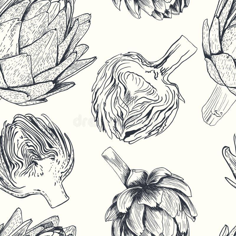 Διανυσματική συρμένη χέρι απεικόνιση αγκιναρών Συλλογή τροφίμων ελεύθερη απεικόνιση δικαιώματος