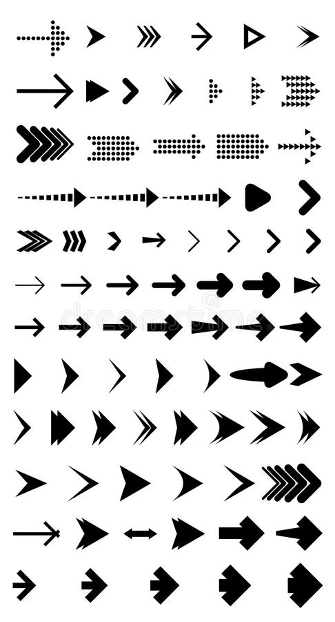 Διανυσματική συλλογή βελών διανυσματική απεικόνιση