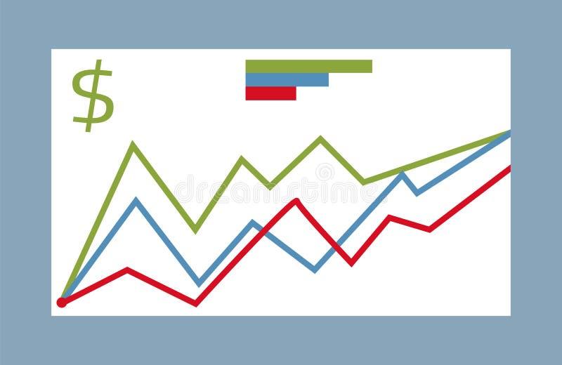 Διανυσματική συλλογή στοιχείων στατιστικής γραφική ελεύθερη απεικόνιση δικαιώματος