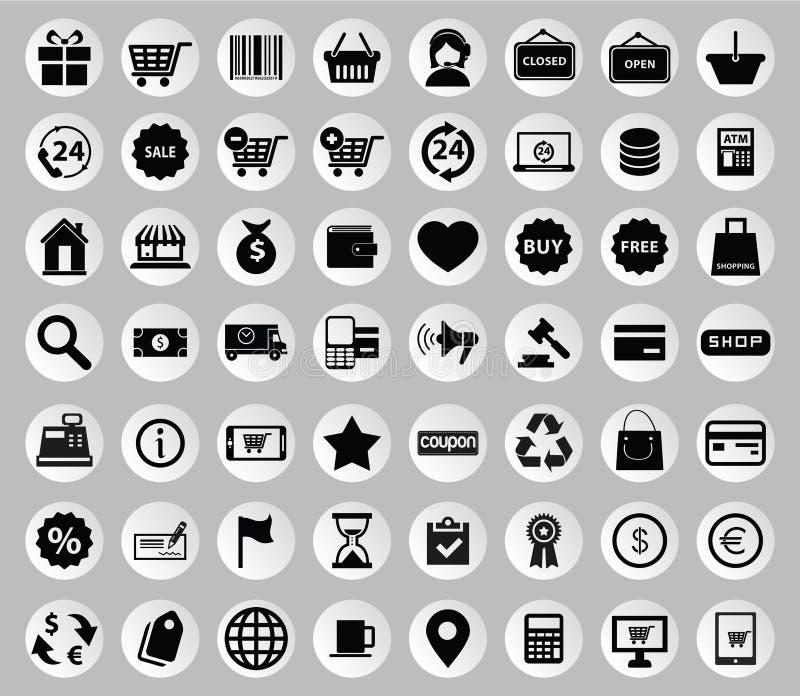 Διανυσματική συλλογή των ζωηρόχρωμων επίπεδων εικονιδίων επιχειρήσεων και χρηματοδότησης απεικόνιση αποθεμάτων