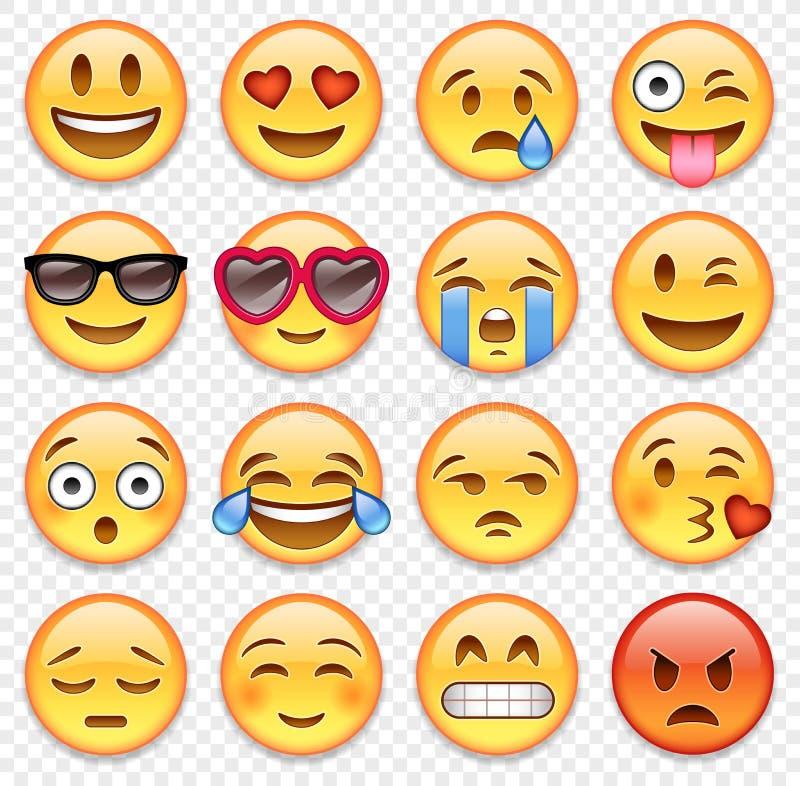 Διανυσματική συλλογή emoticons απεικόνιση αποθεμάτων