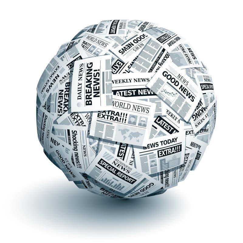 Διανυσματική σφαίρα εφημερίδων απεικόνιση αποθεμάτων