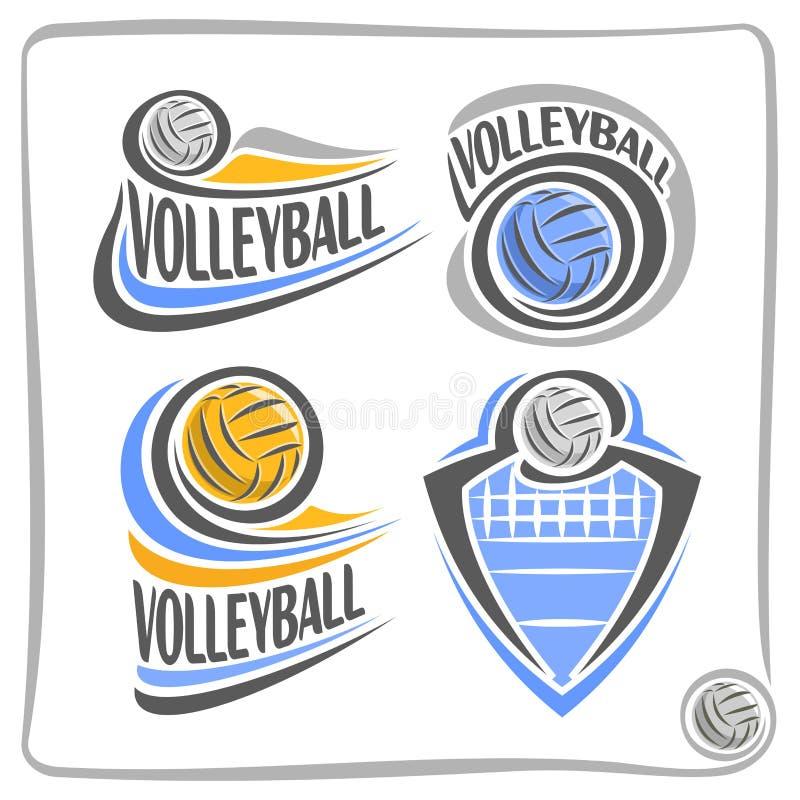 Διανυσματική σφαίρα πετοσφαίρισης λογότυπων διανυσματική απεικόνιση