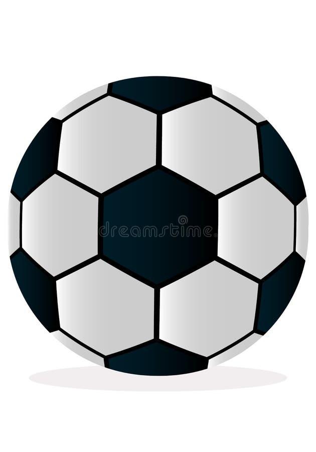 Διανυσματική σφαίρα ποδοσφαίρου απεικόνισης στο άσπρο υπόβαθρο ελεύθερη απεικόνιση δικαιώματος