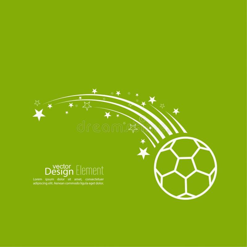Διανυσματική σφαίρα ποδοσφαίρου εικονιδίων απεικόνιση αποθεμάτων