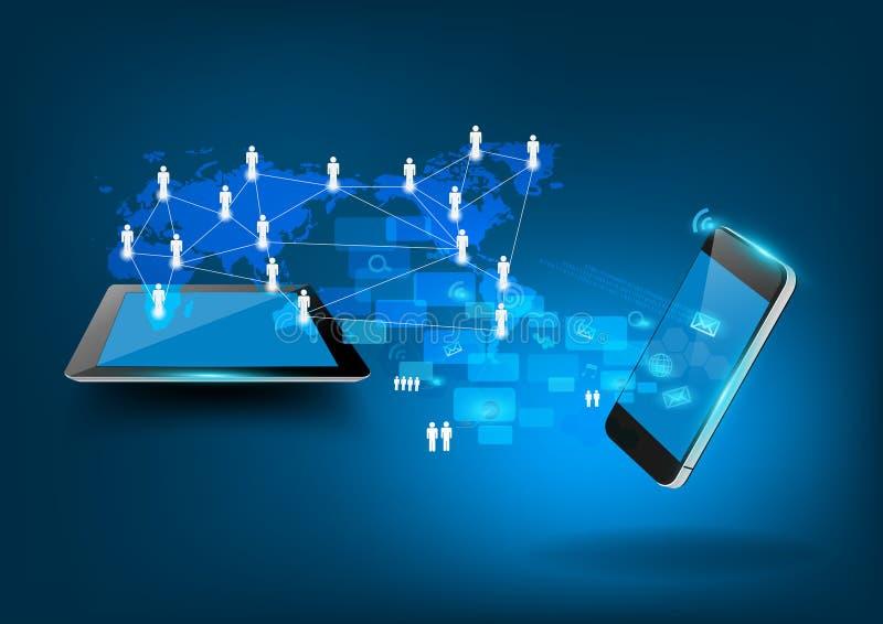 Διανυσματική σύγχρονη επιχειρησιακή έννοια τεχνολογίας διανυσματική απεικόνιση