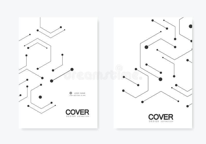 Διανυσματική σύνδεση και κοινωνικό δίκτυο Hexagons σχέδιο τεχνολογίας απεικόνιση αποθεμάτων