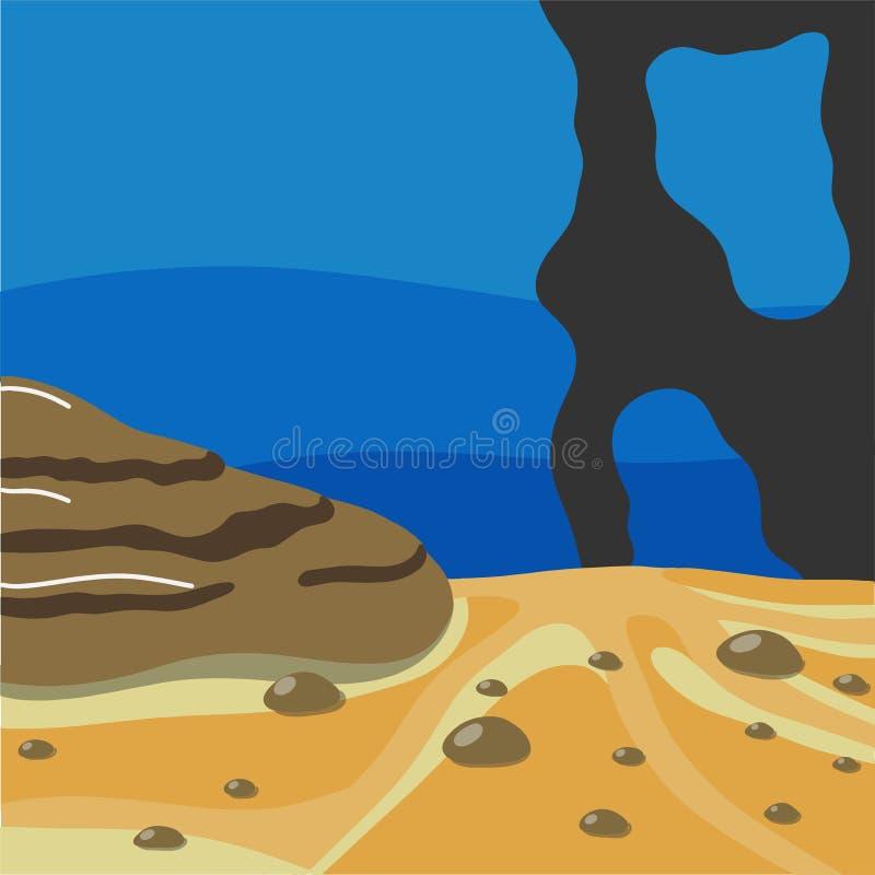 Απεικόνιση του υποβρύχιου κόσμου διανυσματική απεικόνιση