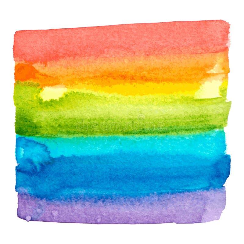 Διανυσματική σύσταση χρωμάτων ουράνιων τόξων που απομονώνεται απεικόνιση αποθεμάτων