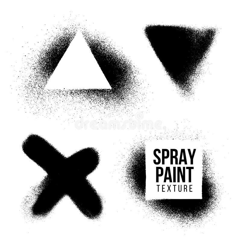 Διανυσματική σύσταση χρωμάτων ψεκασμού splatter απεικόνιση αποθεμάτων