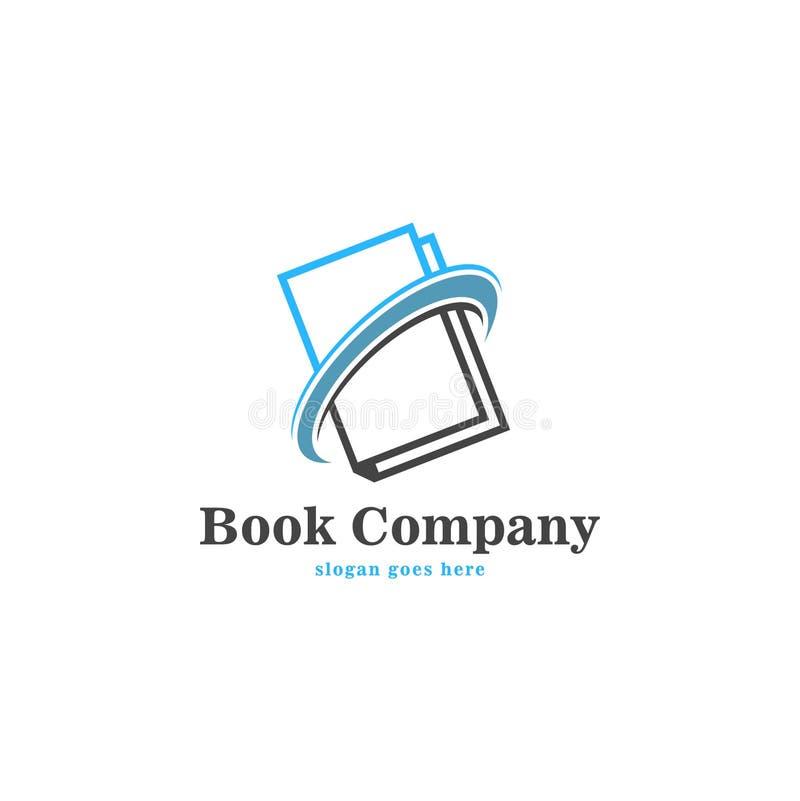 Διανυσματική τέχνη λογότυπων βιβλίων Πρότυπο λογότυπων για την επιχείρησή σας ελεύθερη απεικόνιση δικαιώματος