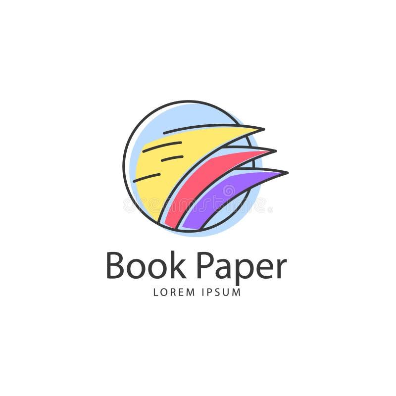 Διανυσματική τέχνη λογότυπων βιβλίων Πρότυπο λογότυπων για την επιχείρησή σας διανυσματική απεικόνιση