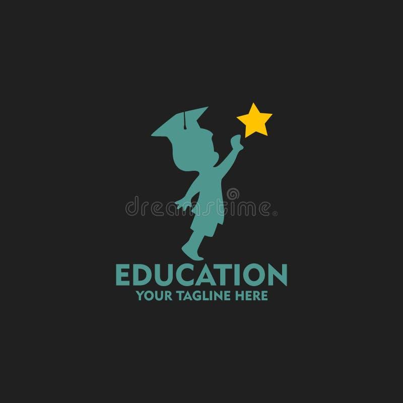 Διανυσματική τέχνη λογότυπων εκπαίδευσης Πρότυπο λογότυπων για την επιχείρησή σας διανυσματική απεικόνιση