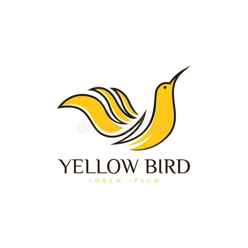 Διανυσματική τέχνη λογότυπων πουλιών Πρότυπο λογότυπων για την επιχείρησή σας ελεύθερη απεικόνιση δικαιώματος