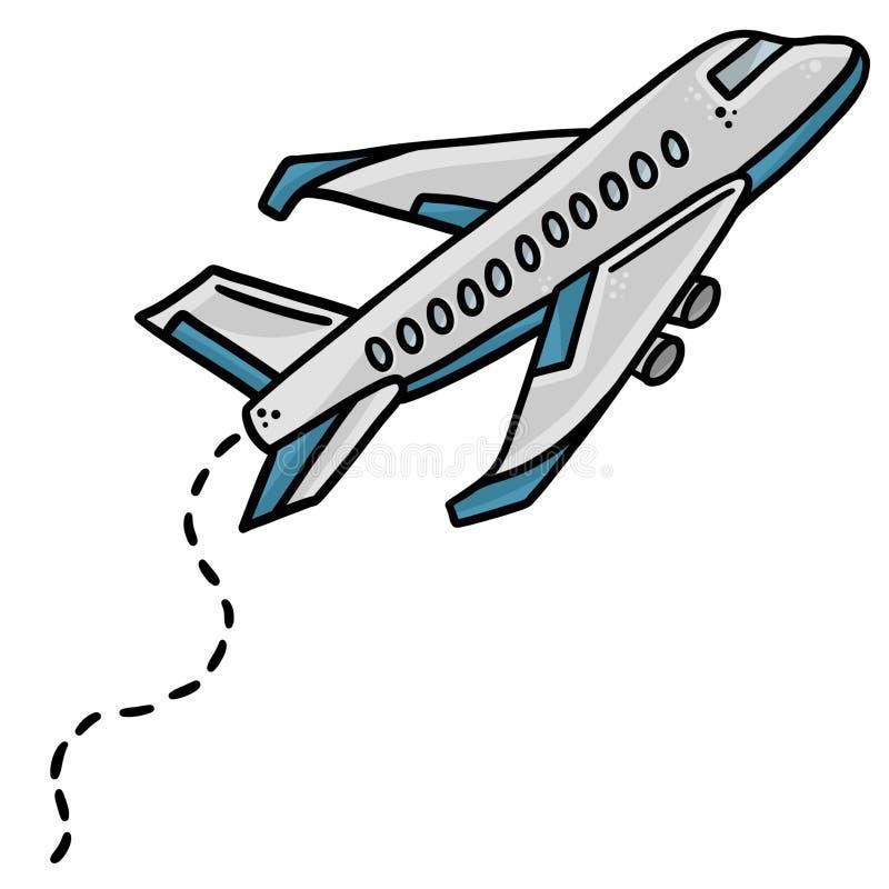 Διανυσματική τέχνη συνδετήρων απεικόνισης τέχνης γραμμών αεροπλάνων στοκ φωτογραφία