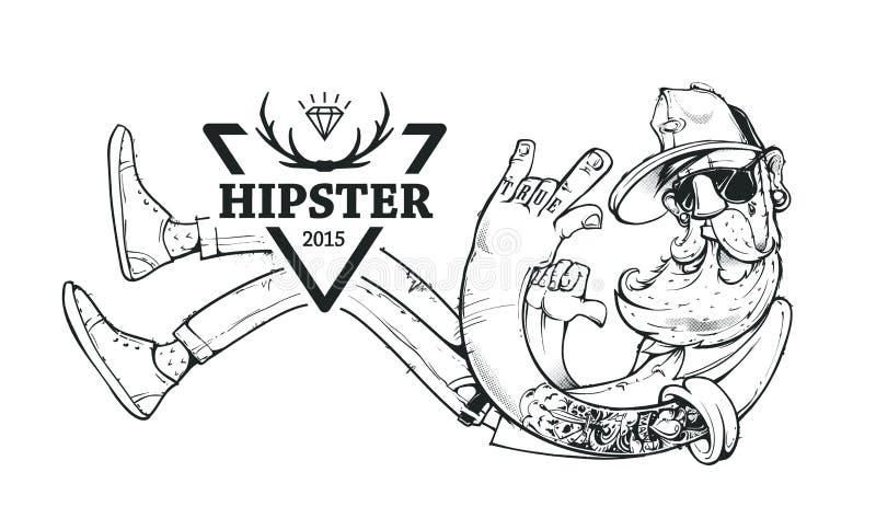Διανυσματική τέχνη Hipster διανυσματική απεικόνιση