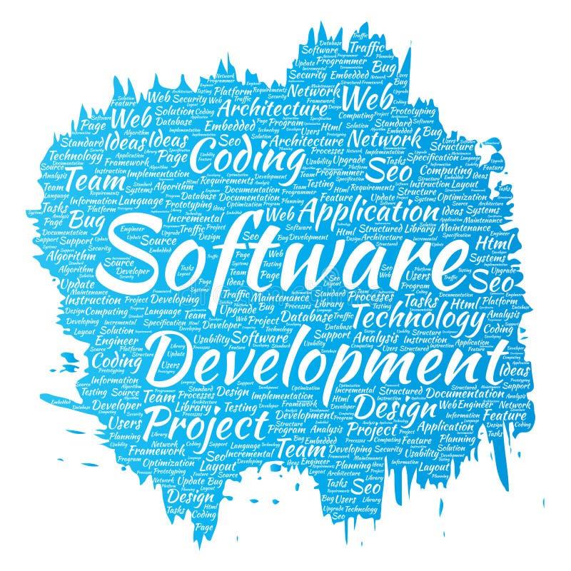 Διανυσματική τεχνολογία κωδικοποίησης προγράμματος ανάπτυξης λογισμικού διανυσματική απεικόνιση