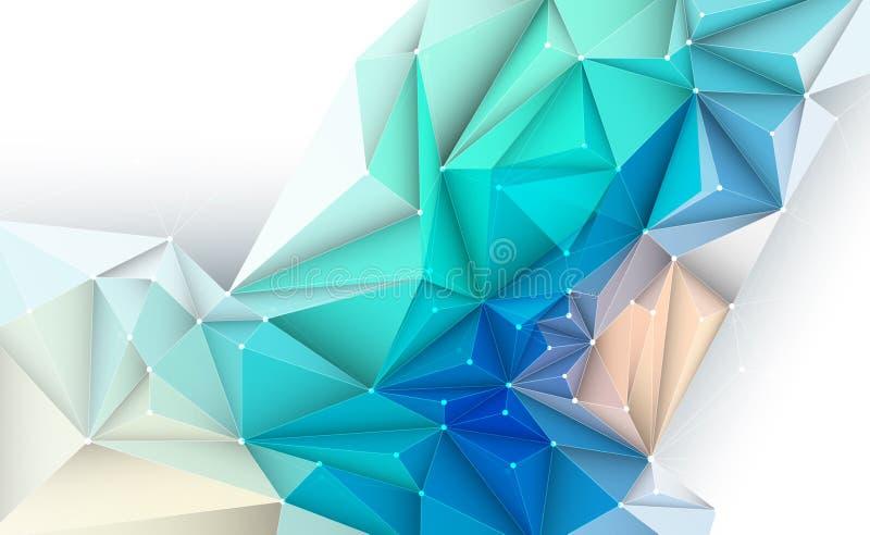 Διανυσματική τρισδιάστατη απεικόνιση γεωμετρική, πολύγωνο, γραμμή, σχέδιο τριγώνων απεικόνιση αποθεμάτων