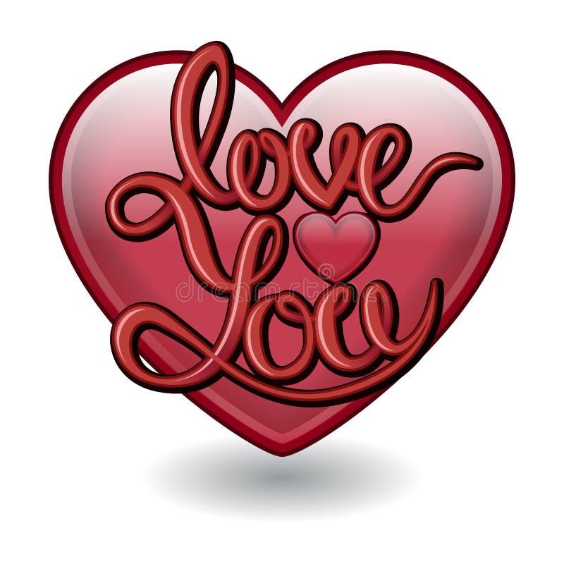 Διανυσματική τρισδιάστατη καρδιά σχεδίων Μπλούζα, αφίσα ή κάρτα τυπωμένων υλών fot ελεύθερη απεικόνιση δικαιώματος