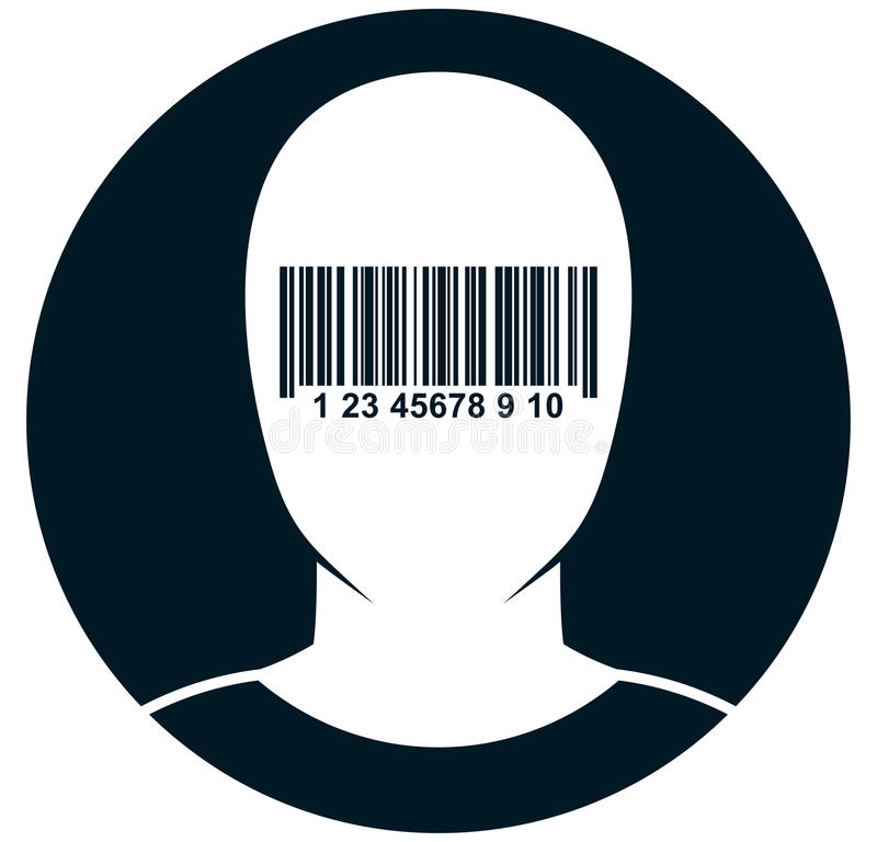 Διανυσματική τυφλός-διπλωμένη απεικόνιση ατόμων που απομονώνεται στο λευκό ελεύθερη απεικόνιση δικαιώματος