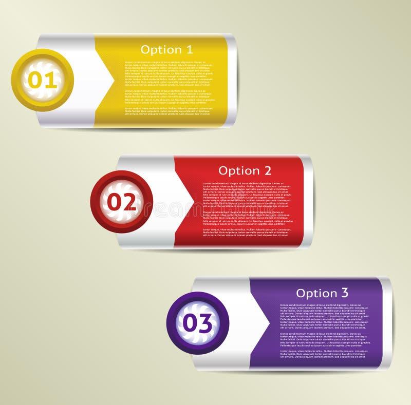 Διανυσματική υπόβαθρο προόδου/επιλογή ή έκδοση προϊόντων ελεύθερη απεικόνιση δικαιώματος