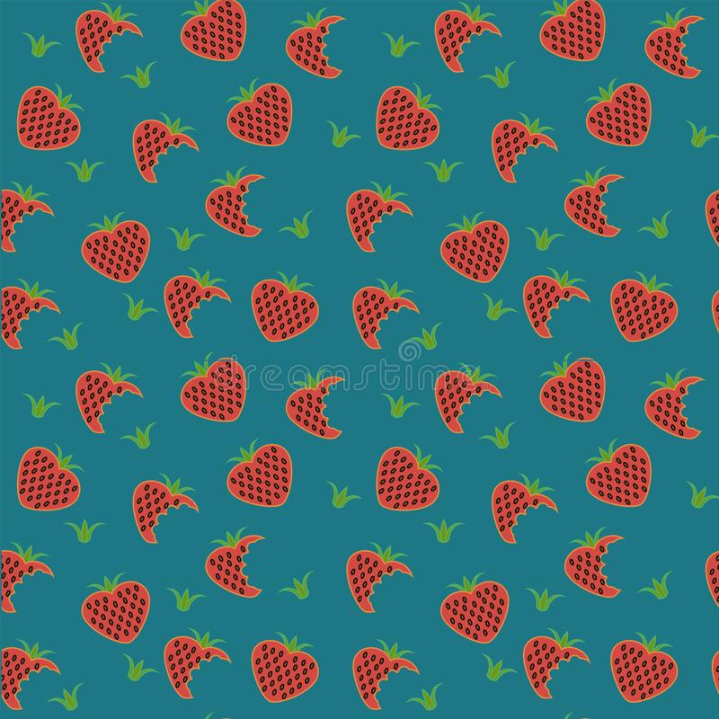 Διανυσματική φράουλα απεικόνιση αποθεμάτων