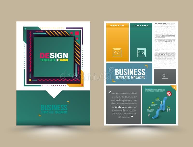 Διανυσματική φυλλάδιο, ιπτάμενο, κάλυψη περιοδικών και πρότυπο αφισών απεικόνιση αποθεμάτων