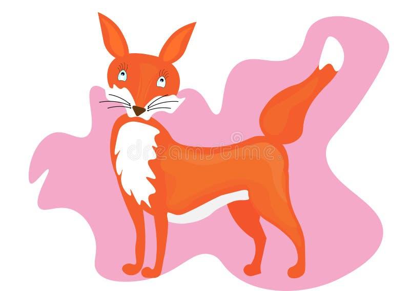 Διανυσματική χαριτωμένη αλεπού κινούμενων σχεδίων Ιστού Διανυσματική αλεπού Διανυσματική απεικόνιση αλεπούδων ελεύθερη απεικόνιση δικαιώματος
