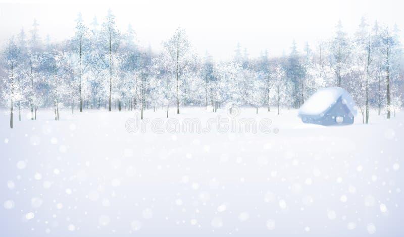Διανυσματική χειμερινή σκηνή απεικόνιση αποθεμάτων