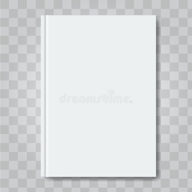 Διανυσματική χλεύη κάλυψης βιβλίων επάνω Έτοιμο πρότυπο σχεδίου προτύπων κενό άσπρο κάθετο διανυσματική απεικόνιση