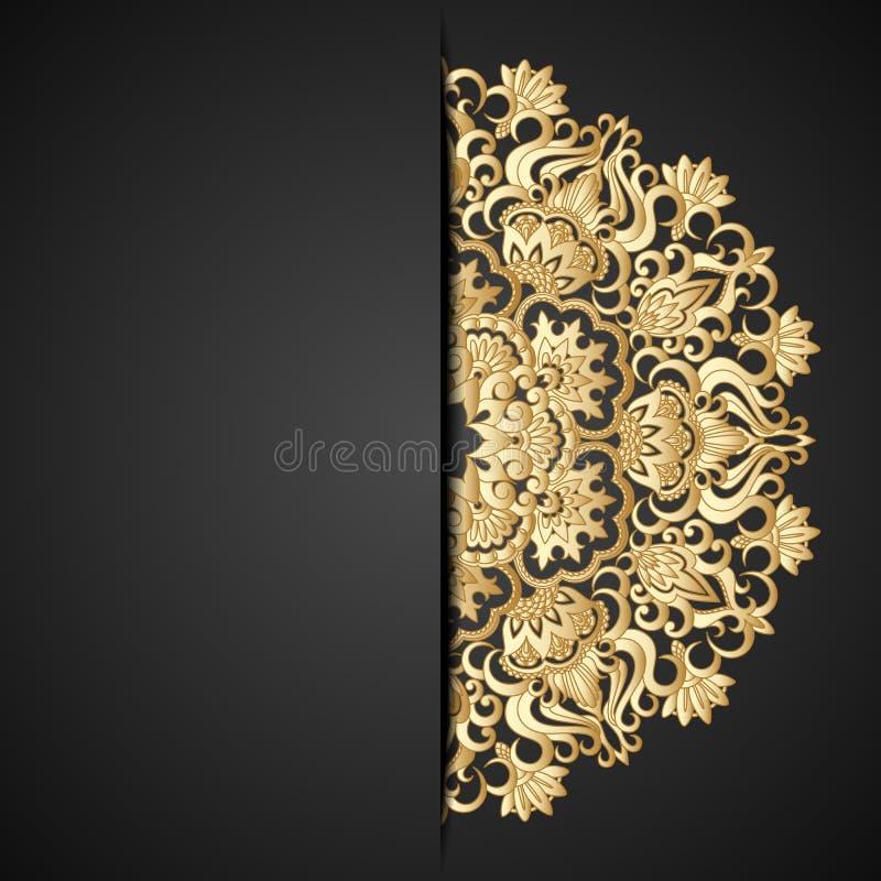 Διανυσματική χρυσή διακόσμηση. απεικόνιση αποθεμάτων