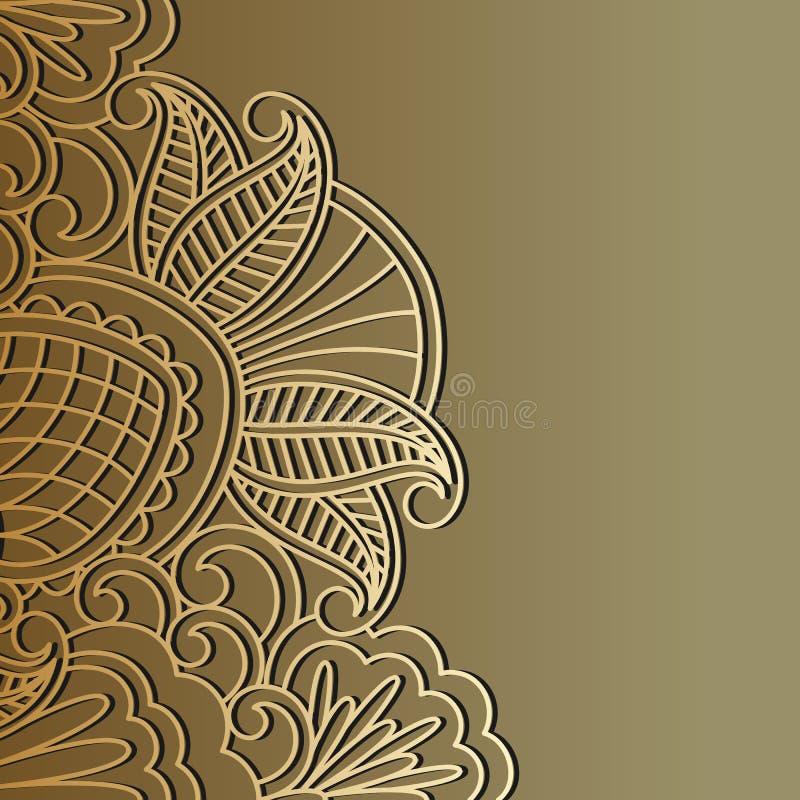 Διανυσματική χρυσή διακόσμηση. διανυσματική απεικόνιση
