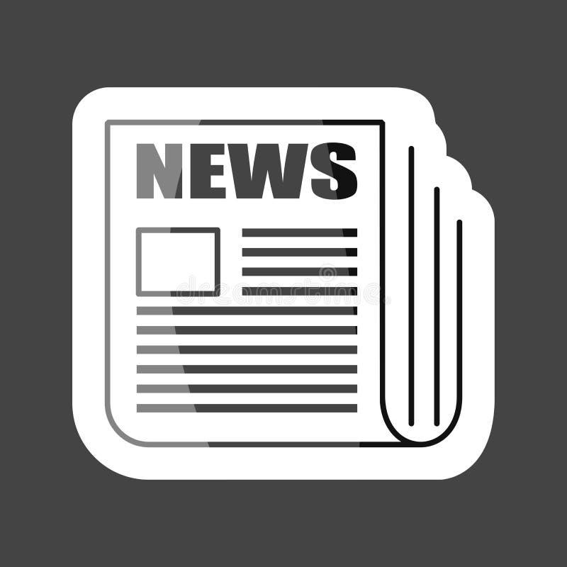 Διανυσματική χρωματισμένη εικονίδιο αυτοκόλλητη ετικέττα ειδήσεων Ειδήσεις εφημερίδων Στρώματα groupe διανυσματική απεικόνιση