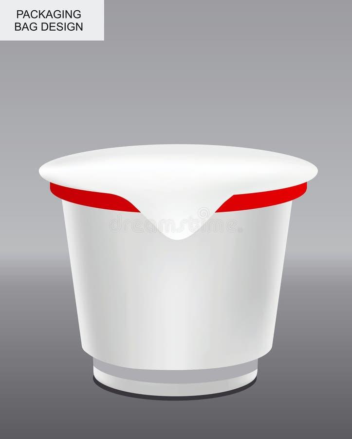 Διανυσματική χλεύη συνόλου επάνω απομονωμένη τρόφιμα συσκ&epsilo snack απεικόνιση αποθεμάτων