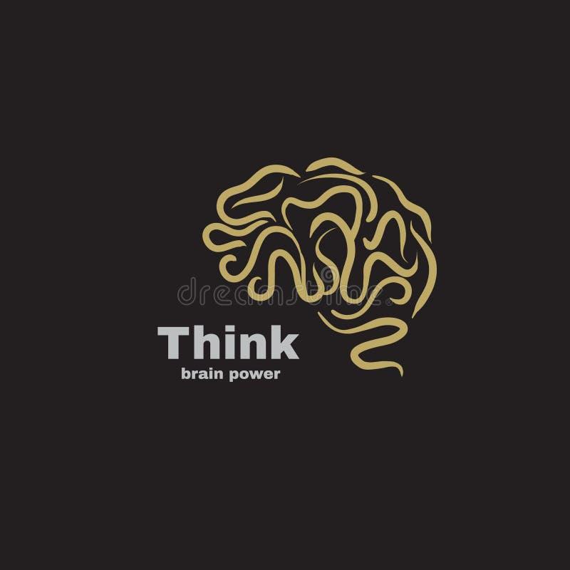 Διανυσματική δύναμη εγκεφάλου λογότυπων ελεύθερη απεικόνιση δικαιώματος