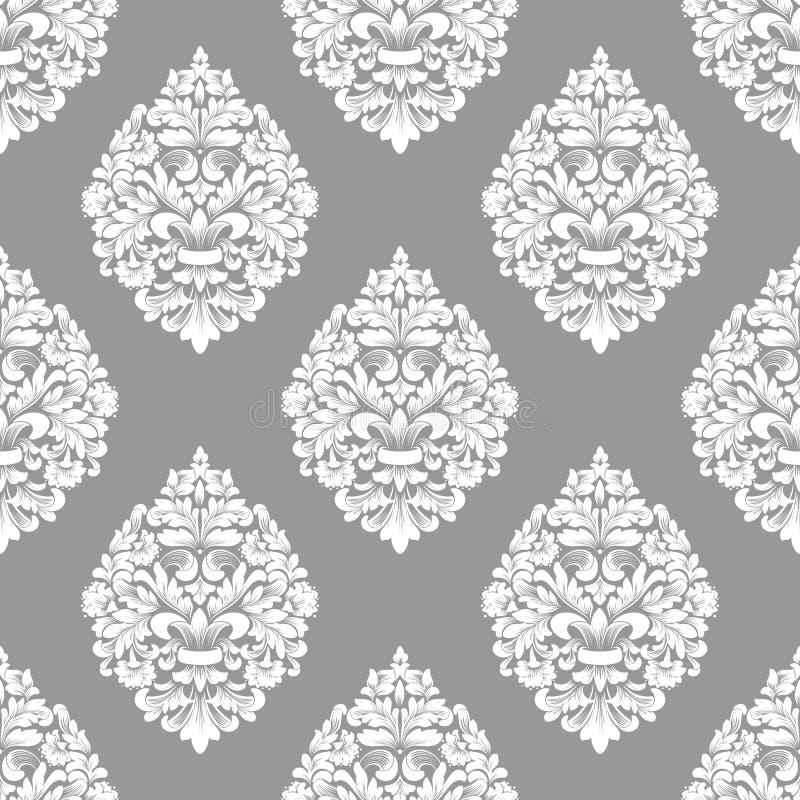 Διανυσματική damask άνευ ραφής ανασκόπηση προτύπων Κλασσική ντεμοντέ damask πολυτέλειας διακόσμηση, βασιλικός βικτοριανός άνευ ρα απεικόνιση αποθεμάτων