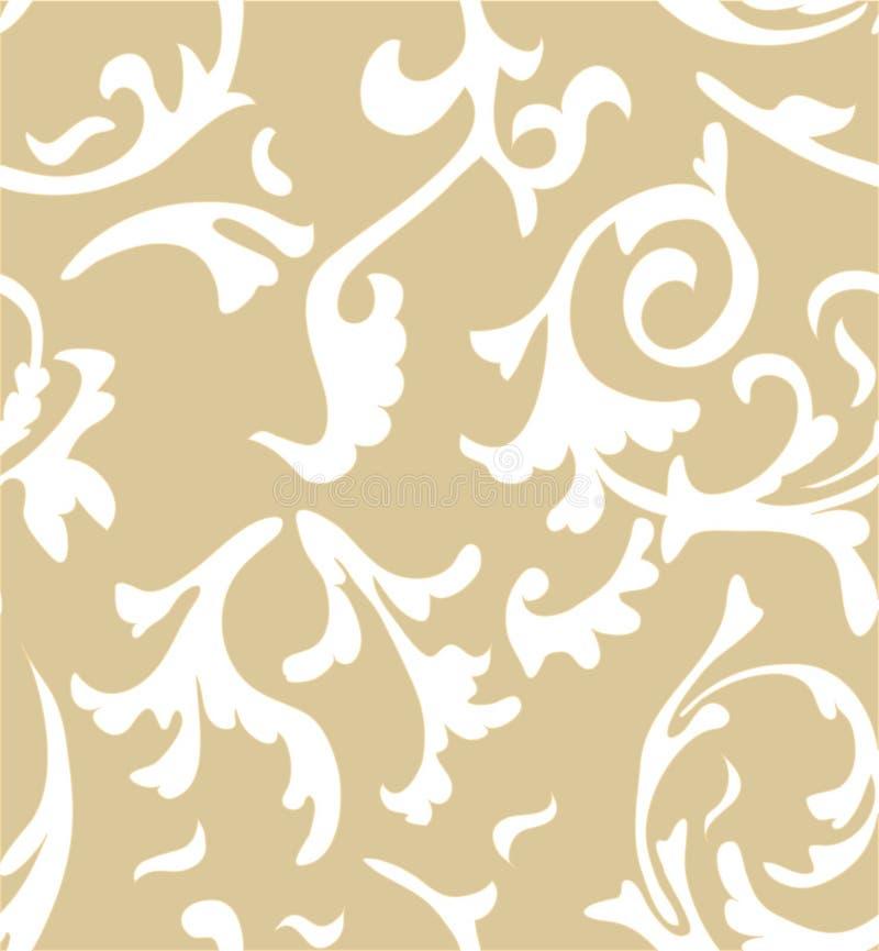 Διανυσματική damask άνευ ραφής ανασκόπηση προτύπων κομψός διανυσματική απεικόνιση