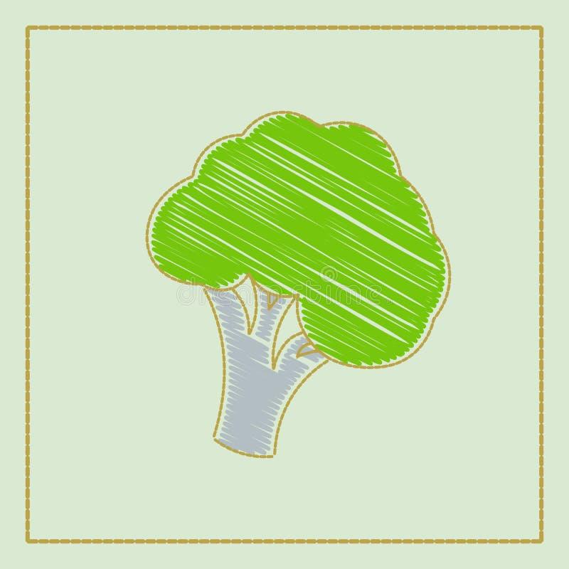Διανυσματική hand-drawn συλλογή απεικόνισης των λαχανικών στο σκοτεινό υπόβαθρο στα κινούμενα σχέδια ή το διακοσμητικό ύφος κεντη απεικόνιση αποθεμάτων