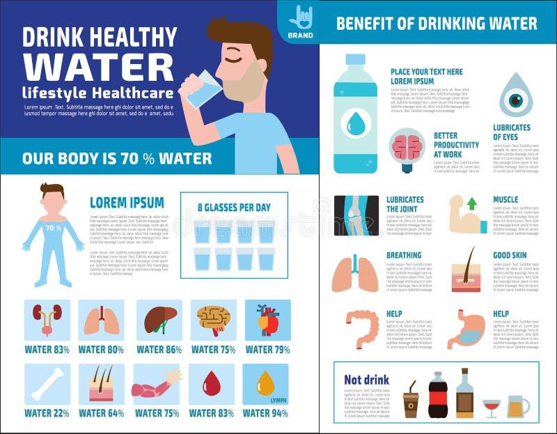 Διανυσματική infographic έννοια φυλλάδιων εικονιδίων στοιχείων υγείας τροφίμων ελεύθερη απεικόνιση δικαιώματος