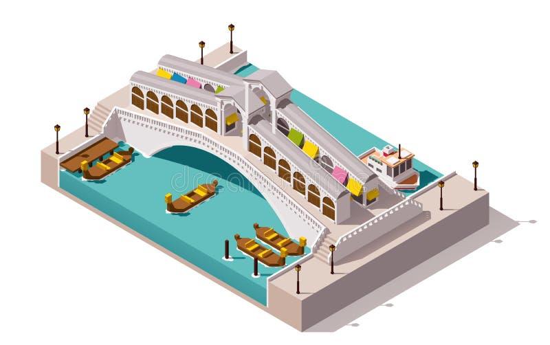 Διανυσματική isometric γέφυρα Rialto ελεύθερη απεικόνιση δικαιώματος