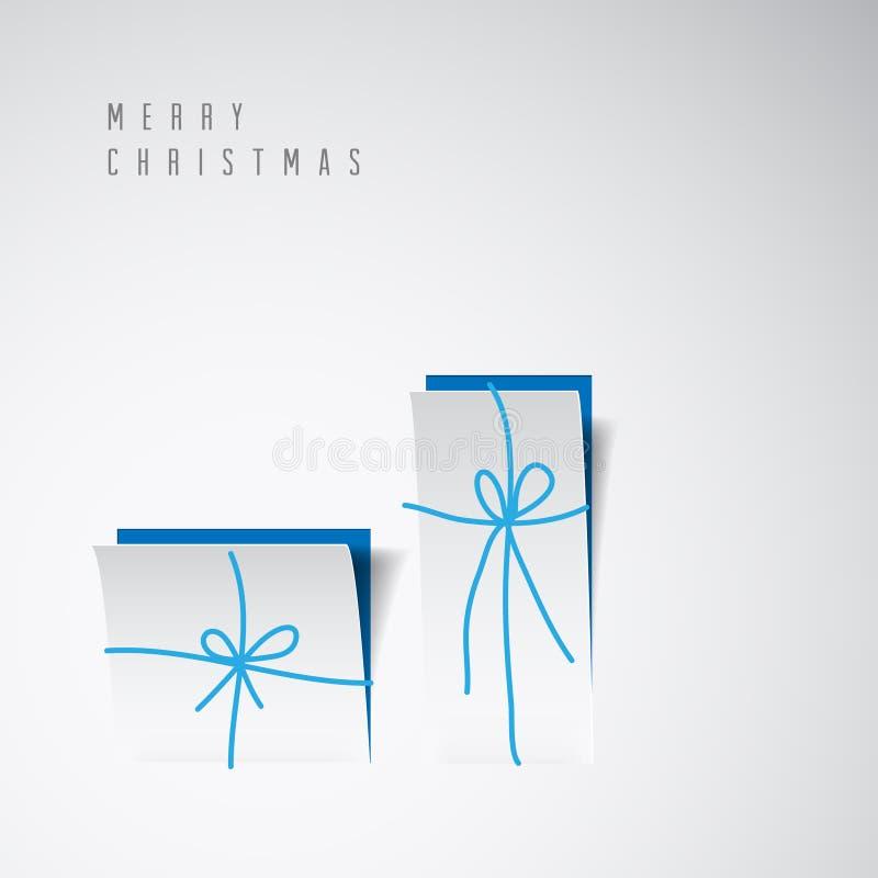 Διανυσματική minimalistic κάρτα Χαρούμενα Χριστούγεννας διανυσματική απεικόνιση