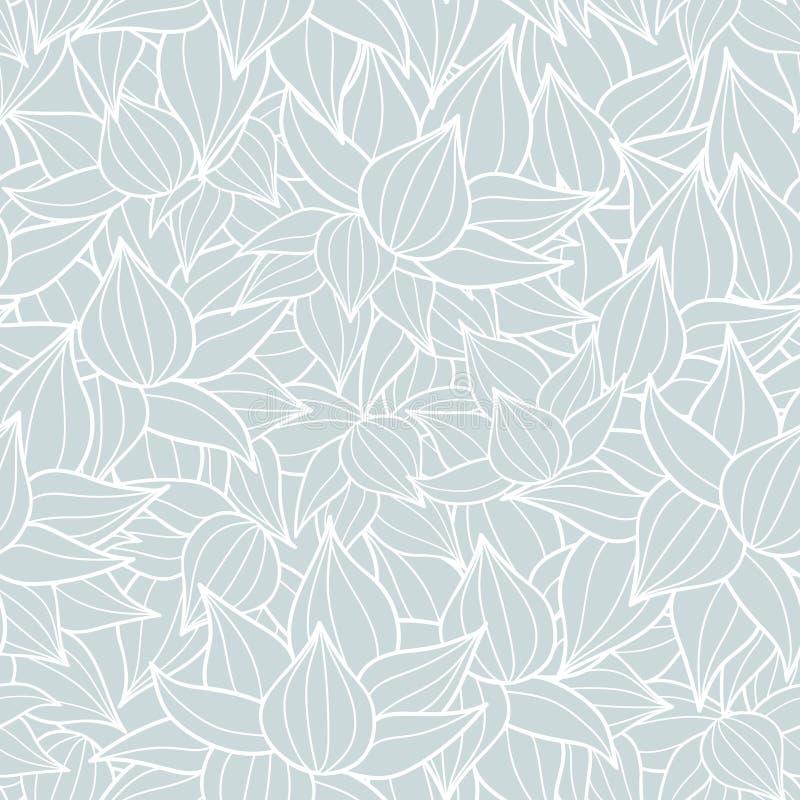 Διανυσματική succulent σύσταση εγκαταστάσεων που σύρει το άνευ ραφής υπόβαθρο σχεδίων Μεγάλος για τα λεπτά, βοτανικά, σύγχρονα υπ διανυσματική απεικόνιση