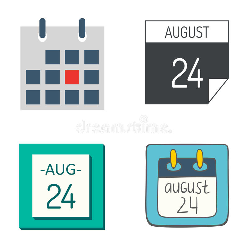 Διανυσματικοί διορισμός σχεδίων επιχειρησιακού γραφικοί εγγράφου διοργανωτών γραφείων εικονιδίων ημερολογιακού Ιστού και στοιχείο διανυσματική απεικόνιση