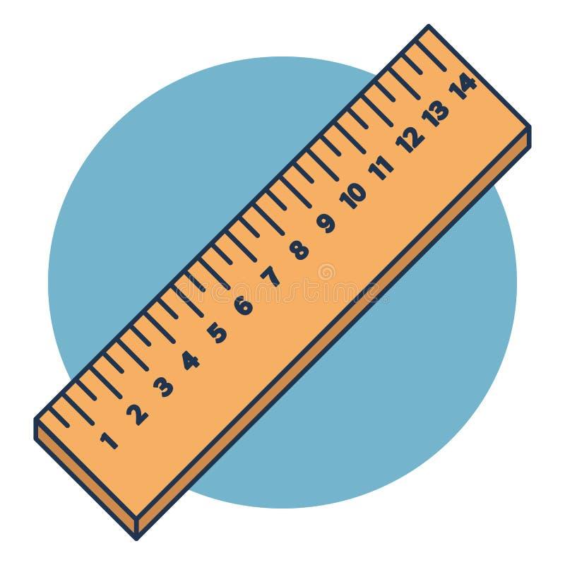 Διανυσματικοί ξύλινοι κυβερνήτες στο εκατοστόμετρο που απομονώνονται στο μπλε υπόβαθρο στοκ φωτογραφία με δικαίωμα ελεύθερης χρήσης