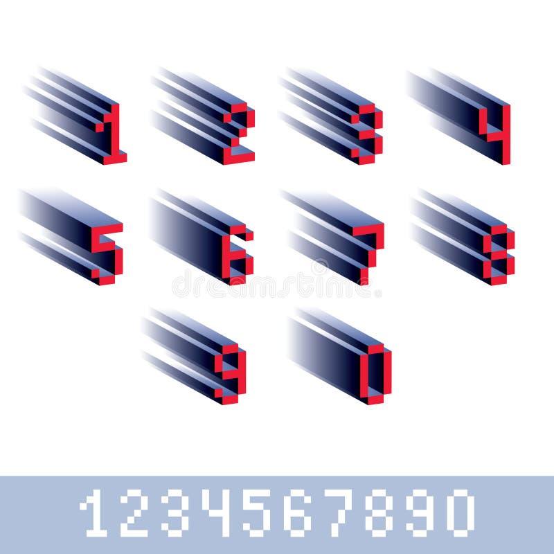 Διανυσματικοί σύγχρονοι ακέραιοι αριθμοί τεχνολογίας καθορισμένοι Γεωμετρικός τα ψηφία απεικόνιση αποθεμάτων