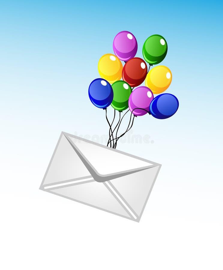 Διανυσματικοί φάκελος και μπαλόνια απεικόνιση αποθεμάτων