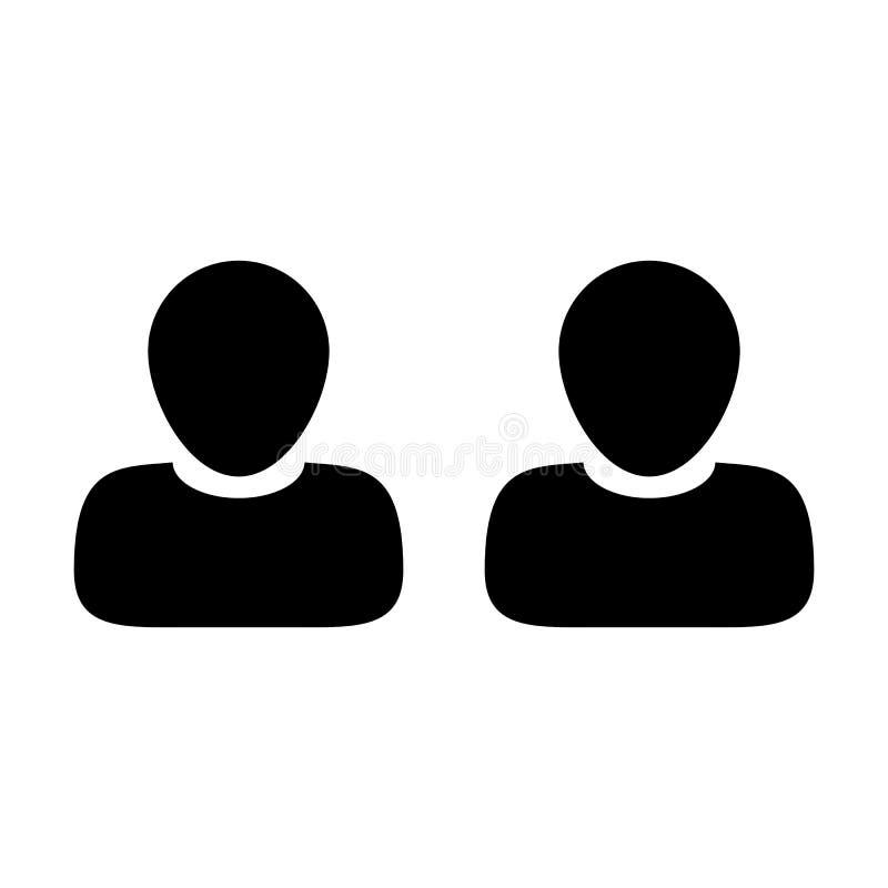 Διανυσματικός άνδρας ομάδα εικονιδίων υπαλλήλων του ειδώλου συμβόλων προσώπων για τη διαχείριση επιχειρησιακών ομάδων ελεύθερη απεικόνιση δικαιώματος