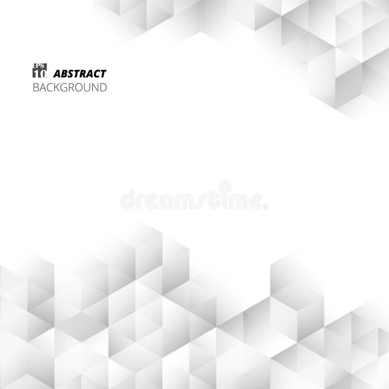 Διανυσματικός άνευ ραφής γραπτός του γεωμετρικού σχεδίου κλίσης κύβων αφηρημένος γεωμετρικός διανυσματική απεικόνιση