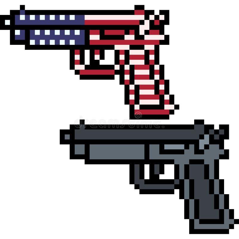 Διανυσματικός έλεγχος των όπλων τέχνης εικονοκυττάρου απεικόνιση αποθεμάτων